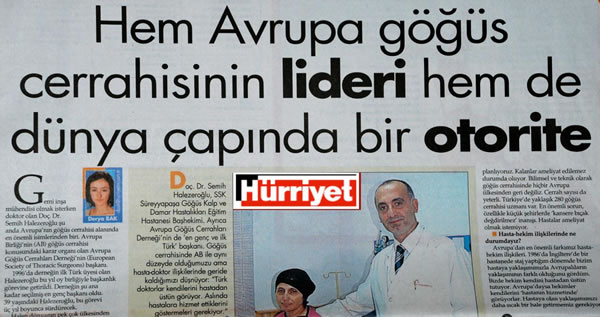 Göğüs Cerrahı Prof. Dr. Semih Halezeroğlu