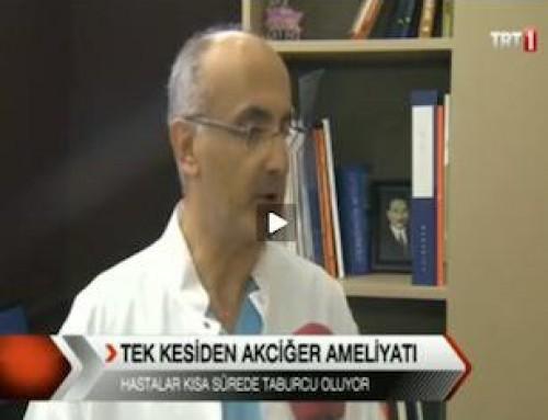 Akciğer Kanserinin 3,5cm'den Ameliyatı: TRT1 Haberler