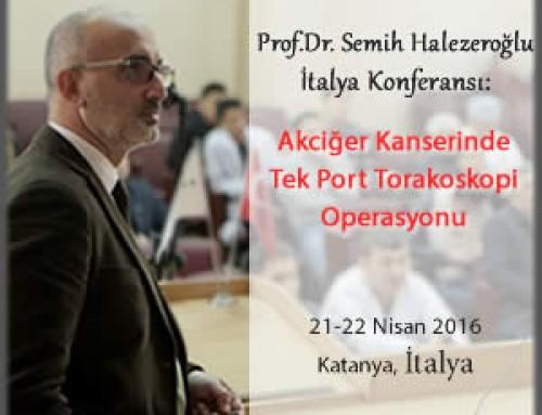 Prof.Dr. Semih Halezeroğlu'nun İtalya Konferansı